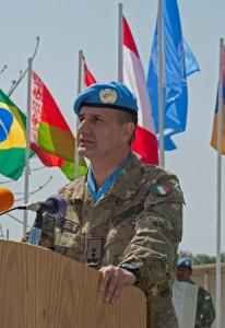 il Force Commander di UNIFIL, Generale di Divisione Paolo Serra