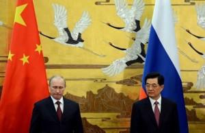CHINA-RUSSIA_-_Vladimir Putin_Hu Jintao