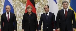 20150212_Vertice di Minsk su Ucraina_Putin_Merkel_Hollande_Poroshenko