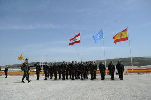 20150408_UNIFIL_il re di  Spagna Filippo VI in visita al contingente spagnolo