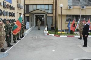 l'arrivo del Presidente bulgaro
