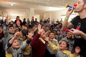 3. UNIFIL- ClownTherapy presso la Scuola per bambini con speciali bisogni educativi di AITASHAAB 16