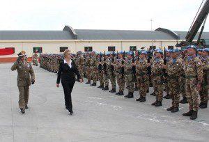 ESERCITO MINISTRO PINOTTI GEN ERRICO A BARI PER RIENTRO B PINOROLO LIBANO3