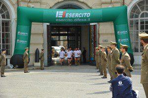 La staffetta arriva aTorino nel Palazzo dell'Arsenale