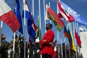 Peacekeepers Day, cerimonia  dell'alzabandiera presso il Quartier Generale di UNIFIL in Naqoura