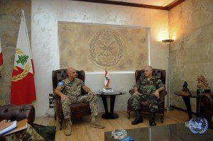 Il Generale Portolano incontra il Comandante delle LAF Generale Jean Kawagi