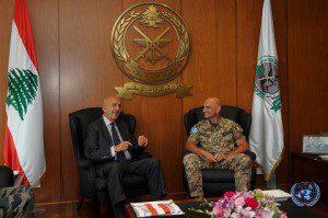 Il Generale Portolano incontra il Ministro della Difesa libanese Samir Moqbel