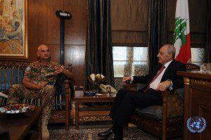 Il generale Portolano incontra il Presidente del Parlamento libanese Nabih Berri