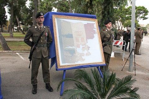 20151023_drappo tricolore 9 regg Fanteria Bari colpito il 24 ottobre 1915
