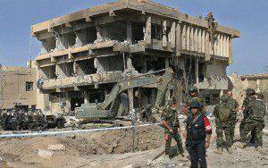 ITALIAN CARABINIERI HEADQUARTERS DESTROYED IN IRAQ