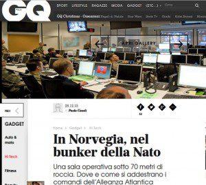 20151228_GQ Italia_bunker Nato in Norvegia_JWC
