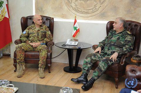 Il Generale Portolano inncontra il Comandante delle LAF Generale Kahwagi