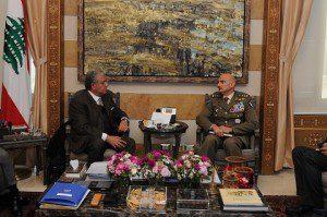Il Generale Portolano inncontra il Ministro degli Interni Nouhad Machnouk