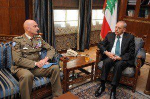 Il Generale Portolano inncontra il Presidente del Parlamento Nabih Berri