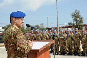 Il Capo di SME saluta il personale del Contingente italiano a Shama
