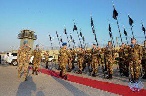 Picchetto d'onore all'arrivo del capo di SME presso HQ UNIFIL