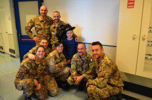 20160318_Rappresentanza della Scuola di Fanteria con Mirko_Policlinico Gemelli