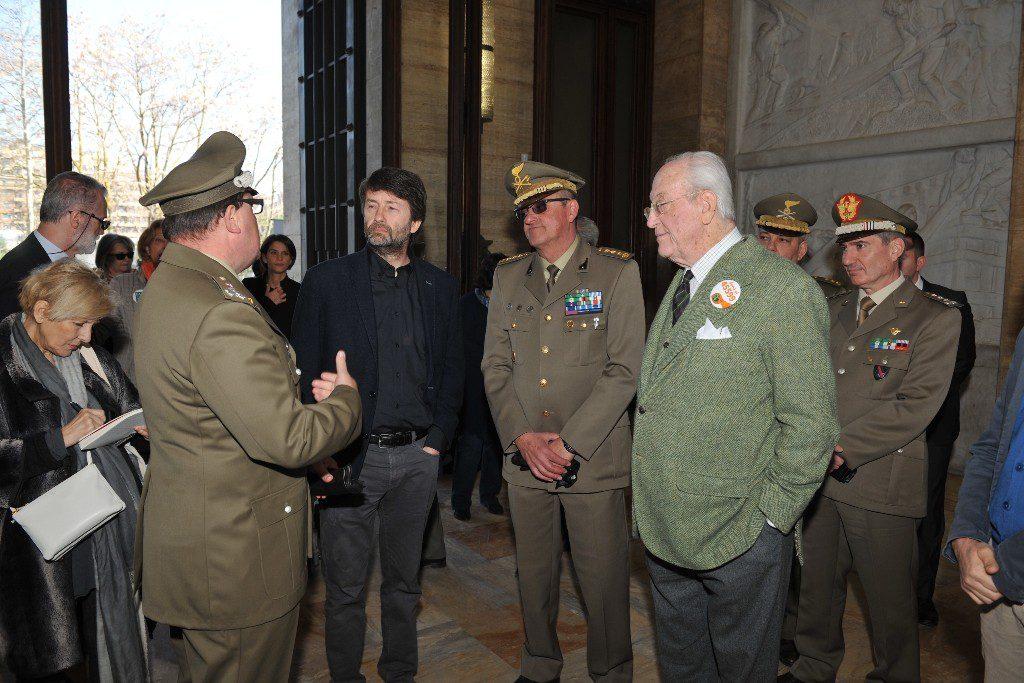 Il Ministro Franceschini e il Presidente Carandini all'ingresso del Museo del Genio