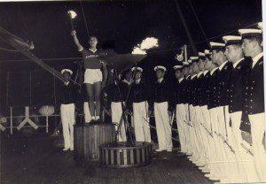 Olimpiadi 1960 la fiaccola_nave Vespucci_Marina Militare