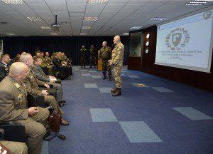 Il Gen. D. Manione riceve la delegazione