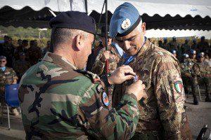 Onorificienza libanese al colonnello Quarto