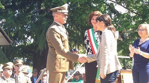 Il Generale Errico e la presidente del Friuli Venezia Giulia