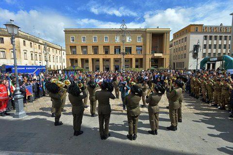 Lecce 21 maggio Piazza S. Oronzo Fanfara del 7° Rgt Bersaglieri