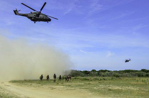4 - fanteria aeromobile e elicotteri NH 90 del 5° _Rigel_ e del 7° _Vega_