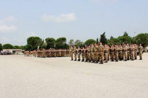 i reparti del 4° Reggimento Carri schierati