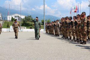 il Vicecomandante del COI, Gen. di Divisione Aerea Stefano Vito Salamida rassegna i reparti schierat2