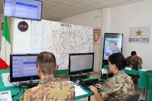 Sala Operativa del Raggruppamento Lazio - Umbria - Abruzzo