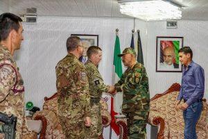 incontro del LT General Sandy Storrie con il General Ghori