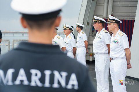 Marina, cambio comando Mare Sicuro: al contrammiraglio Maffeis subentra il collega Torresi, il bilancio di tre mesi