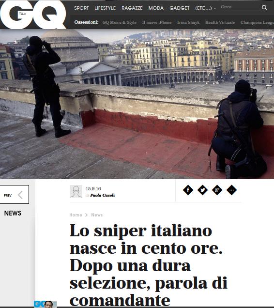 Scuola di Fanteria Esercito: l'intervista al COM, gen Mingiardi, è nella top ten di GQ Italia