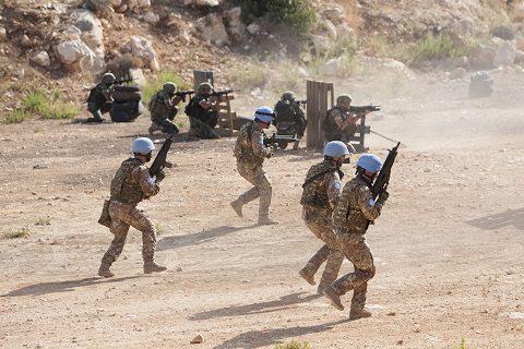Sector West, Libano: la prima esercitazione a fuoco in UNIFIL con i dimonios e i berretti verdi libanesi
