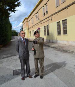 CME Abruzzo: il saluto del Prefetto Alecci al presidio militare dell'Aquila. Foto