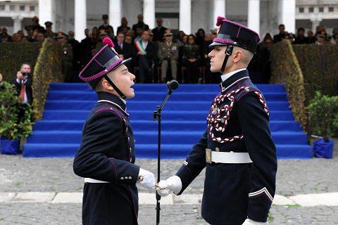 Esercito: giura il 229° corso della Nunziatella. Le foto