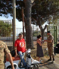 Strade Sicure: i militari del Raggruppamento Campania sul versante ovest del Vesuvio in supporto all'area colpita dall'incendio