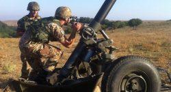Scuola di Applicazione: esercitazione a fuoco per artiglieri del 196° Certezza e 195° Impeto a Monte Romano con il Comando di Artiglieria