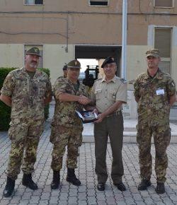 Op Ippocrate, Libia: il gen De Vito CME Abruzzo saluta il 9° rgt Alpini in partenza per Misurata