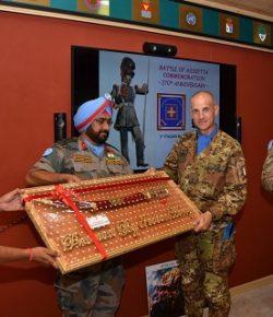 Sector West, UNIIFIL: i Granatieri della Leonte XXII gemellati con i colleghi indiani per la Battaglia dell'Assietta