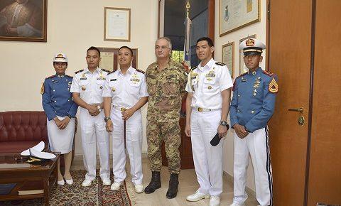 CESIVA: la nave scuola indonesiana Kri Bima Suci in visita al Centro Simulazione e Validazione dell'Esercito