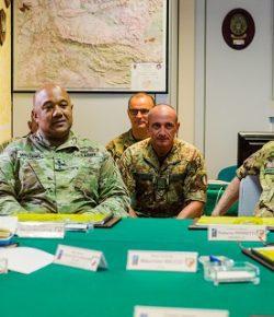 NRDC-ITA riceve la visita del NATO LANDCOM gen Williams prima della validazione come LCC nella VJTF di eNRF