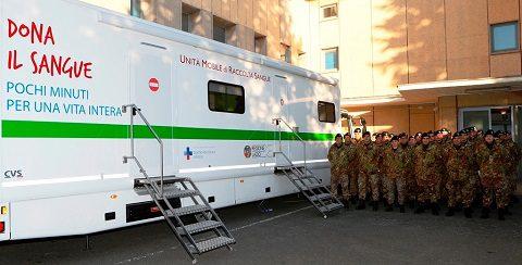 Scuola Sottufficiali: penultima donazione di sangue del 2017 per i militari. Ultimo appuntamento il 20 dicembre