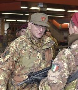 Strade Sicure: visita del CaSMD gen Graziano ai militari del Raggruppamento Lazio-Umbria-Abruzzo