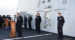 Mare Sicuro, Marina Militare: passaggio di consegne del Comandante tattico dell'operazione, nave Bergamini diventa la flagship