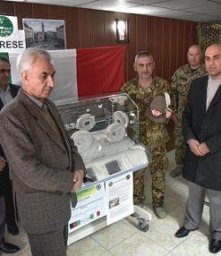 TAAC-W, Herat: attrezzature mediche per laboratorio molecolare, una incubatrice donata dall'ANA di Varese e farmaci per i presidi sanitari