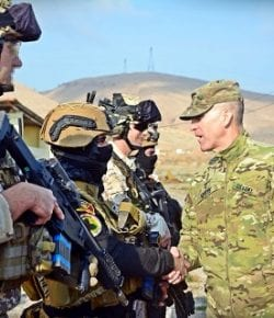 Task Force Praesidium, OIR: il gen White, comandante della coalizione anti-ISIS, in visita sulla Diga di Mosul