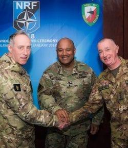 NRDC-ITA è combat ready al comando dell'LCC della NRF-VJTF. Cerimonia di handover con ARRC
