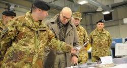 Esercito: al 28° Pavia il senatore Latorre in visita, accompagnato dal Sottocapo gen Mora